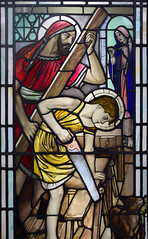 Christ in the Carpenter's Workshop (Simon_K) Tags: ely cambridgeshire cambs eastanglia cathedral window glass stained sgm nikon d5300