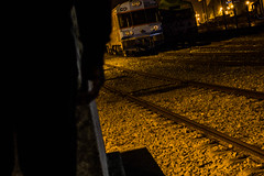 Waiting for the right moment! (Mica.LRecorder) Tags: eu noite night rails trains comboios luz me light wait ready brilho shine yellow canon