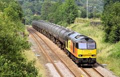Colas 60 At Copy Pit Summit. (Neil Harvey 156) Tags: railway 60076 dunbar copypitsummit copypit copypitline prestondockstanks prestontanks bitumentanks 6e32 class60 colasrail colas tug