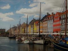 Nyhavn snapshot (babs van beieren) Tags: nyhavn copenhagen danmark colorful water harbour touristic citytrip city clouds houses 7dwf saturdaylandscape cityscape