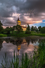 Disney in da house! (A. Stavrovich) Tags: firework fortress bip nature clouds lakes reflections evening sunset trees grass mariental canon5dmarkii canonef1740mmf4l panorama russia
