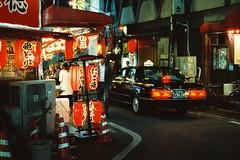 OSAKA (benriley80) Tags: taxi nissan film japan osaka black taxicab nikonf3 cinestill 800 35mm carsonfilm
