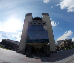 NSU new main building (mad_sanity) Tags: building main novosibirsk state university pano panorama spherical summer nsu new academgorodok