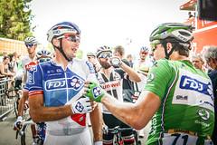 Tour de France 2017 #Behind the Scene (equipecyclistefdj) Tags: arrivée chaleur fatigue maillotvert