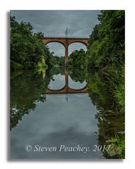 Viaduct Reflections (Steven Peachey) Tags: canon6d ef1740mmf4l canon reflections croxdaleviaduct lee09gnd river landscape stevenpeachey lightroom countydurham riverwear