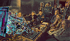 The Weird Room (The Polygonist) Tags: digitalpunishment digiart wtc war whitehouse osamabinladen obama biden clinton situation room