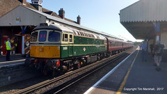 45 Years late? (tim_marshall_7099) Tags: swanage wareham class33 class37 swanagerailway branchlineservice servicerestart