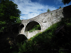 Unusual bridge (M2112934 M2112936 E-M1ii 9mm iso200 f8 2.5s) (Mel Stephens) Tags: 20170611 201706 2017 q2 craigmin bridge drybridge buckie moray scotland uk abandoned structure derelict olympus omd em1ii ii m43 microfourthirds mirrorless 43 fourthirds zuiko 918mm mmf3 letterfourie le long exposure mft june geotagged