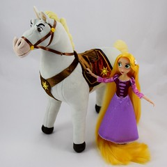 Adventure Rapunzel with Plush Maximus - Tangled: The Series - Disney Store Purchases - Rapunzel Standing Beside Maximus (drj1828) Tags: us disneystore tangled tangledtheseries doll 2017 purchase posable adventure 10inch 2d deboxed maximus horse plush 15inch