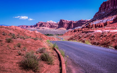 Capitol Reef Scenic Drive (toddwendy) Tags: capitolreef utah nationalpark cliffs waterpocketfold desert landscape scenic hdr west southwest