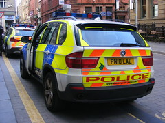 5537 - Merseyside - PN10 LAE - 243 (Call the Cops 999) Tags: uk gb united kingdom great britain 999 112 emergency service services vehicle vehicles england 101 police policing law enforcement and order arv armed response manchester city centre sunday 4 june 2017 mutual aid merseyside battenburg led lightbar bmw x5 pn10 lae hardman street
