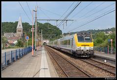 NMBS 1881 - IC 506 (Spoorpunt.nl) Tags: 18 juni 2017 nmbs 1881 ic trein 506 i11 rijtuigen stuurstand stuurstandrijtuig station gare pepinster kerk saints antoine ermite et apolline