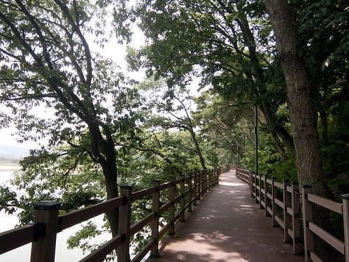 Gyeongju, Boman Lake, Boardwalk