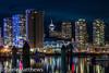 DSC08431 (steelematthews) Tags: harbourcentre rogersarena reflections longexposure nightshots vancouver sonyalpha
