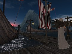 Forkbeard Fjordr - The dock (Swann Larnia Sim builds) Tags: torvaldsland longship longboat dock viking torvie bond kirtle village medieval fantasy secondlife:region=gokyori secondlife:parcel=forkbeardfjordrbtbtorvaldslandstorylinerp secondlife:x=40 secondlife:y=83 secondlife:z=21