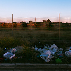 Side of the Road, 2017 (James Banko Photography) Tags: rubbish outdoors sunset road x100 x100t fujifilm litter composition melbournephotographer melbourne streetphotography streetphotographer streetprography fullofcolour australia