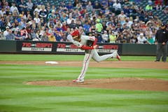 Aaron Nola delivers (hj_west) Tags: baseball philadelphiaphillies seattlemariners safecofield mlb interleague stadium night sports