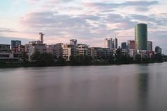 West harbor at sunset (kchest) Tags: sunset frankfurt mainufer