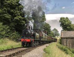 Leaving (4486Merlin) Tags: coaltank 1054 england europe exlms exlnwr heritagerailways keighleyworthvalleyrailway northeast pregroupinglms railways steam transport unitedkingdom westyorkshire oakworth gbr vintagetrainevent