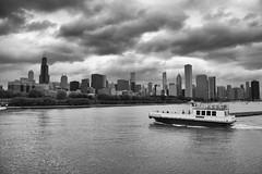 Clouds over Chicago (sniggie) Tags: chicago boat waterfront ships lakemichigan monochrome skyline city windycity blackwhite bw greatlakes gottagonow grantpark harbor monroeharbor
