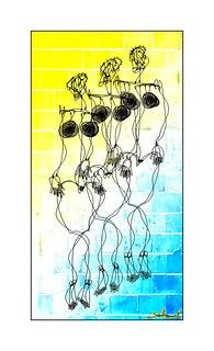 Wavy Wire Woman with Slate - Aztec Josephine Baker