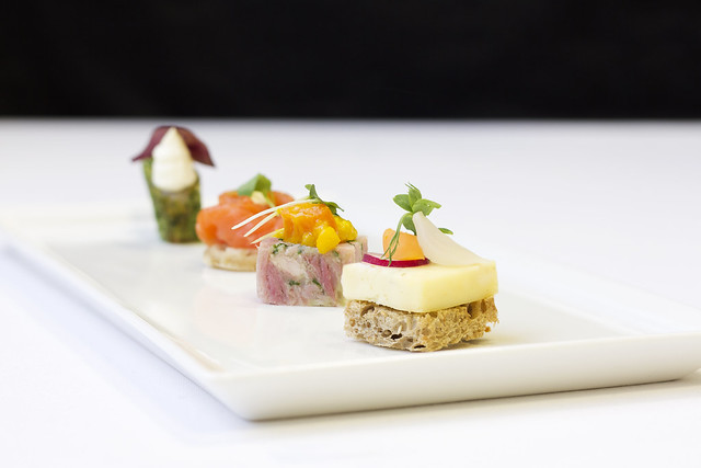 Canapes White Platter © ROH. Photograph by ROH Restaurants, 2017