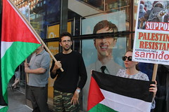 New Yorkers protest to free Muhammad Allan and stop HP (joegaza) Tags: bds boycotthp stophp boycottdivestmentandsanctionsmovement boycotted boycotts divest divested divests hp israelis newyorkcity palestine palestinians sanction sanctioned sanctions westbank zionism zionist zionists
