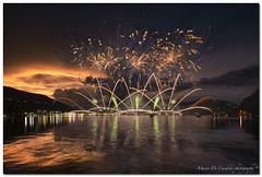 "Ponte Tresa, Fireworks On July 8, 2017 (""Deca"") Tags: varese lavenapontetresa lago lake lagodilugano luci lights fuochiartificiali fireworks luglio july estate summer"