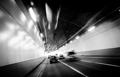 153:365 2017. Tunnel Vision (gardengeorgie) Tags: 365 2017 project tunnel zoomblur car black white