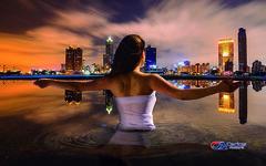 Carlos Atelier2 - Cidade (Carlos Atelier2) Tags: carlos atelier2 mulher água cidade noite luz montagem manipulação photoshop