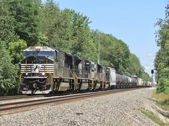 Norfolk Southern Chicago Line / MP 458 West (codeeightythree) Tags: ns norfolksouthernchicagoline norfolksouthernrailroad norfolksouthern rollingprairieindiana rollingprairie indiana transportation freight railroad railroading railroadphotography