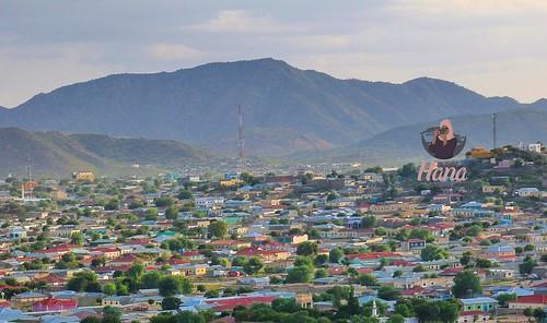 The breathtaking mountain Saw looming over Borama