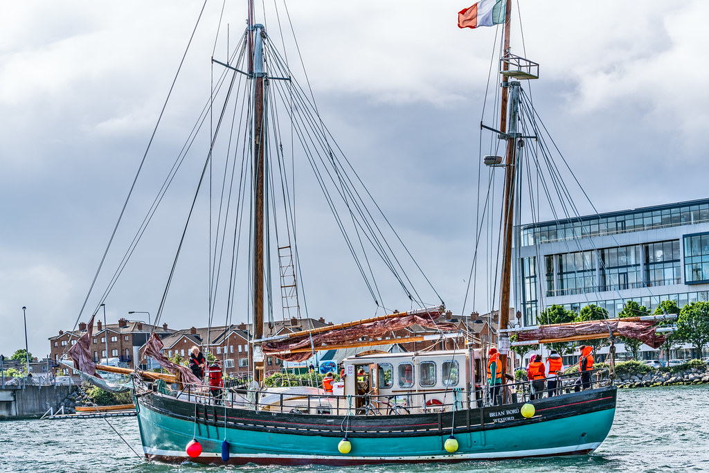 THE BRIAN BORU [SETS SAIL FROM DUBLIN AFTER THE DUBLIN PORT RIVERFEST 2017]-129415