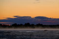 Kukkolaforsen II (Elisabeth Aurora V.) Tags: kukkola sweden sverige mist river sunset sunrise canon