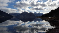 Reflection perfection (Explore) (christianbartlett) Tags: scenery scotland scottishhighlands schottland lochduich reflections reflection water shore mountains fivesisters kintail westerross highlands munro munros clouds sky