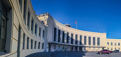 1940 golden gate international exposition terminal building (pbo31) Tags: bayarea california iphone7 color july 2017 summer boury pbo31 sanfrancisco city urban treasureisland 1940 deco terminal goldengateinternationalexposition worldsfair panorama panam large stitched blue shadow