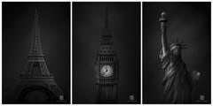 Paris - Londres - New York (S.D.G Photographie) Tags: paris londrès ny newyork series triptyque bw black white long exposure