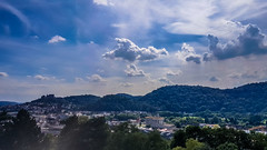 Marburg (A. Yousuf Kurniawan) Tags: city marburg cloud sky bluesky hill blue cityscape landscape scenery tree forest cameraphone hdr skyscape nature