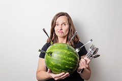 I wish I had... (~ cynthiak ~) Tags: 365 365days 3652017 2017 july july2017 194365 img9145 ourdailychallenge odc iwishihad iwishihadaknife watermelon spoons forks spoonsandforks noknives