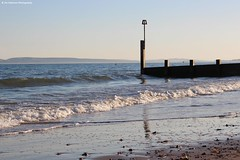 Boscombe Beach (Jim-Paterson) Tags: shore coast beach landscape sea waves sky sunset evening groyne dorset boscombe