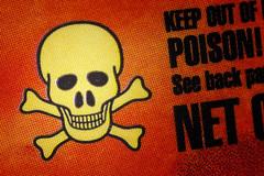 Poison halftone -[ HMM ]- (Carbon Arc) Tags: macromondays poisonous poison danger caution symbol icon drain cleaner sodium hydroxide caustic alkali skull crossbones