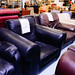 Black leather rental properties chairE80