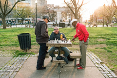 16910033 (alexdotbarber) Tags: 1125 35mm c41 districtofcolumbia dupontcircle kodakportra160 nikonfm3a voigtlanderultron40mmf2slii washingtondc analog chess chessboard chessgame chessplayer chessplayers colornegative f4 film manualfocus