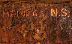 New Scotland (Junkstock) Tags: aged artifact abstract abstraction artifacts corrosion corroded decay decayed graphic graphics iron industrial industry canada novascotia relic rust rusty rustyandcrusty rusted textures texture typography type text urbanexploration urban weathered