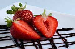 Strawberries (ciccioetneo) Tags: nikond7000 nikon105mmf28 fragola strawberry fragoladimaletto maletto catania sicilia sicily sagradellafragola closeup ciccioetneo sb800 nikonsb800 strobist