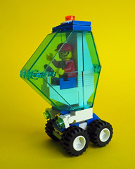 Bubble Car Again! (David Roberts 01341) Tags: lego car minifigure minfig space scifi mrrush city town futuristic bubble