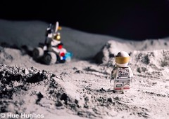 IMG_5292 (Hue Hughes) Tags: lego space spacemission moon moonlanding lunar astronaut unikitty benny superman alien mech spaceman rover lunarrover craters moondust toys macro fun cute apollo