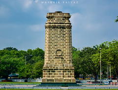 Monument (MashrikFaiyaz) Tags: flickrunitedaward india asia southasia south indian kolkata monument architectural nikon d5300 pride tourism historical memorial travel green yellow orange colors background plants sky light natural clouds spring white skyscraper march sunny sunlight sunshine landscape cityscape outdoor urban city architecture art design long tower height stone bricks