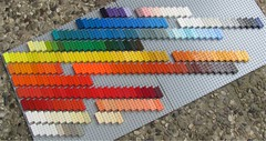 Lego Bayer ABCDs - colors (Fantastic Brick) Tags: lego 2x4 test brick abcd collection bayer