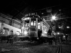 Veteran (mauro.tch) Tags: industrial transport tramway tram old ancient steam iron nikon coolpix night museum subway metro black white